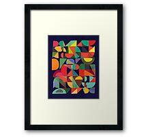 Color Blocks Framed Print