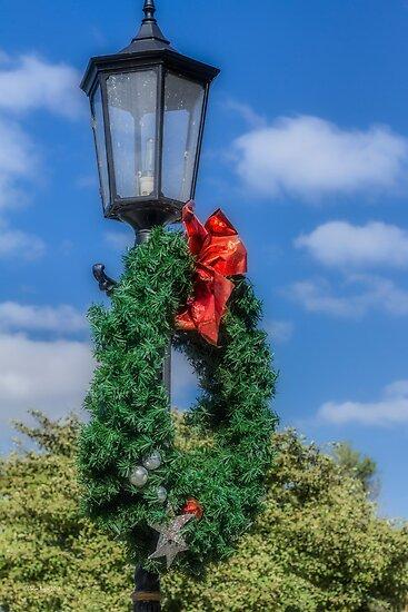 Christmas Lamp by Elaine Teague