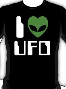 I Alien Heart UFO T-Shirt