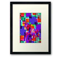 Cool Horse Vector Colorful Design Framed Print