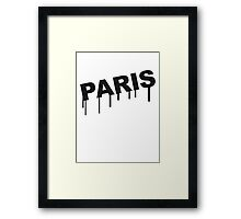 Paris Graffiti Framed Print