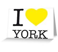 I ♥ YORK Greeting Card