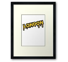 London Graffiti Framed Print