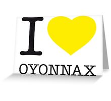 I ♥ OYONNAX Greeting Card