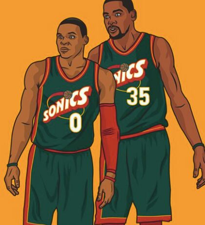 Kevin Durant & Russel Westbrook Case Sticker