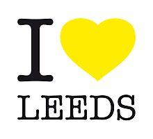 I ♥ LEEDS Photographic Print