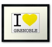 I ♥ GRENOBLE Framed Print