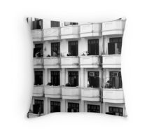 Love thy neighbour Throw Pillow