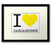 I ♥ CARCASSONNE Framed Print