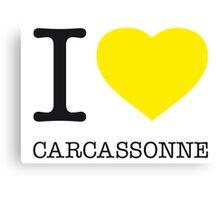 I ♥ CARCASSONNE Canvas Print