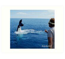 Whale Calendar 1 July Art Print
