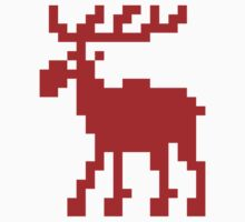 Pixel Moose by tinybiscuits