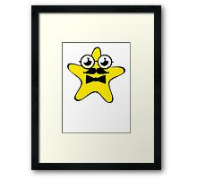 Professor Star Cartoon Framed Print
