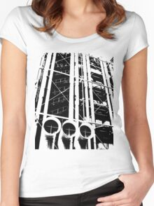 Centre Pompidou Women's Fitted Scoop T-Shirt