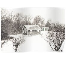 Cape Cod Farm Buried in Snow Poster