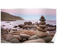 Zen Stones at Twilight Poster