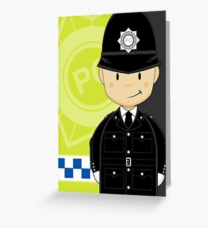 British Policeman Greeting Card