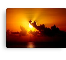 Crimson Clouds Canvas Print