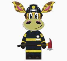 Cute Giraffe Fireman Kids Clothes