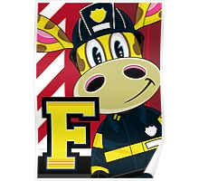F is for Fireman Poster