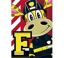 F is for Fireman Photographic Print
