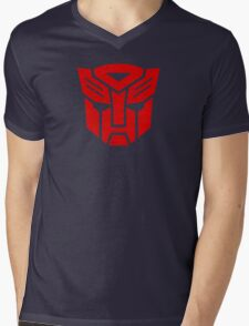 Transformers Autobot Logo Mens V-Neck T-Shirt