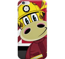 Cute Giraffe Fireman iPhone Case/Skin