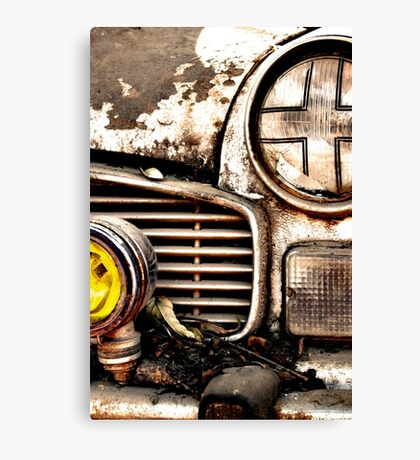 Vintage Abandoned Cars Abstract  Canvas Print