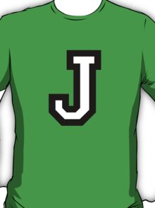 Letter J two-color T-Shirt