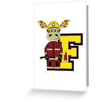 F is for Fireman Greeting Card