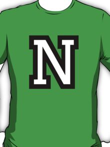 Letter N two-color T-Shirt