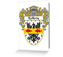 Rafferty Coat of Arms / Rafferty Family Crest Greeting Card