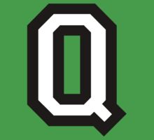Letter Q two-color by theshirtshops