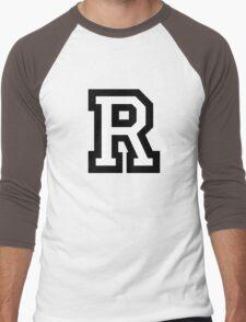 Letter R two-color Men's Baseball ¾ T-Shirt