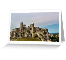 Ogrodzieniec castle ruins. Greeting Card