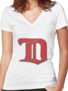 Detroit Redwings Winter Classic   Women's Fitted V-Neck T-Shirt