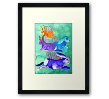 Ideas are like rabbits Framed Print