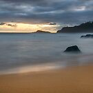 Kauapea Beach, Sunrise - Kauai by Michael Treloar