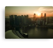 Sunset in Asia Canvas Print