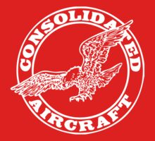 Consolidated Aircraft Logo (White) by warbirdwear