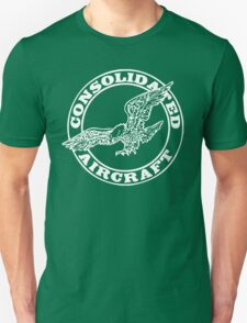 Consolidated Aircraft Logo (White) Unisex T-Shirt