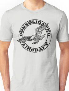 Consolidated Aircraft Logo (Black) Unisex T-Shirt