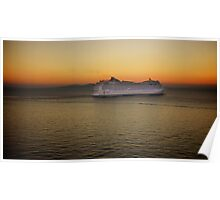 Sailing at Sunset (enlarge for better view) Poster