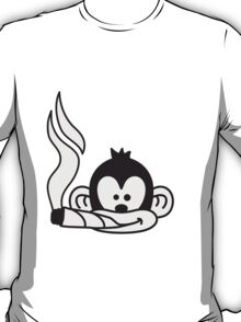 Cool Joint Smoking Monkey Face T-Shirt