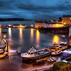 Tenby Harbour at High Tide by Simon West