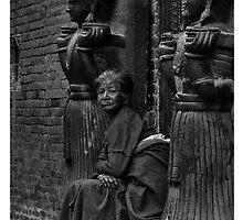 Newari woman in Bhaktapur  by queenenigma