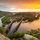 Historic Harper's Ferry West Virginia at Sunset by MarkVanDyke