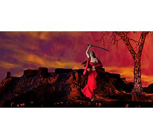 Catphrodite's Red Wind - part 3 Photographic Print