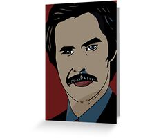 Anchorman 2 - Ron Burgundy  Greeting Card