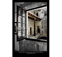 black n white window view Photographic Print
